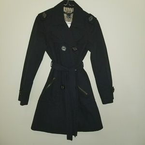 MARC JACOBS Black Cotton Trench Coat